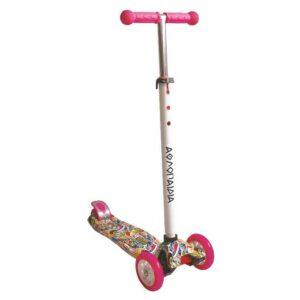 Πατίνι τρίτροχο Αθλοπαιδιά με φωτιζόμενα ροδάκια ροζ #10