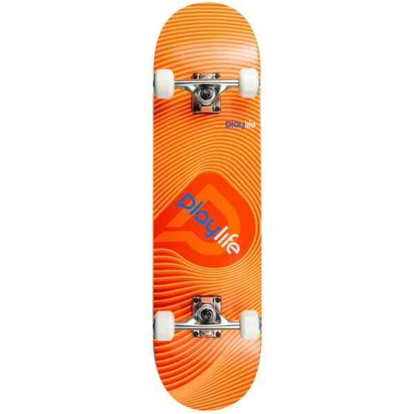 playlife complete skateboard llusion orange 8'