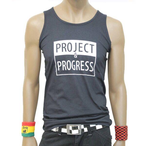 project and progress sleeveless black