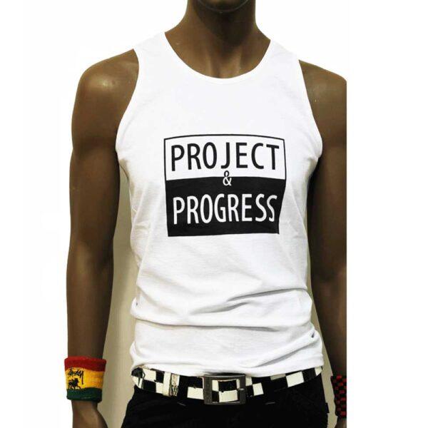 Αμάνικη Μπλούζα Project and Progress Sleeveless White