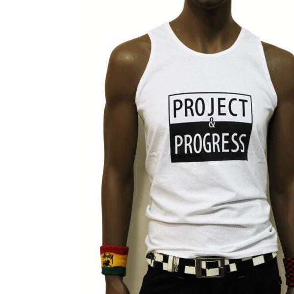 project and progress sleeveless white
