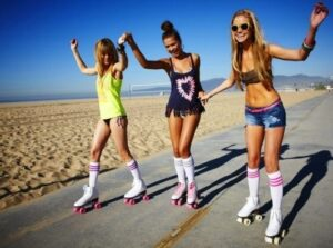 rollerblading with friends