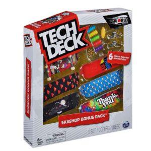 Σετ 6 Μινιατούρες Τροχοσανίδες Tech Deck Sk8Shop Bonus Pack ThankYou