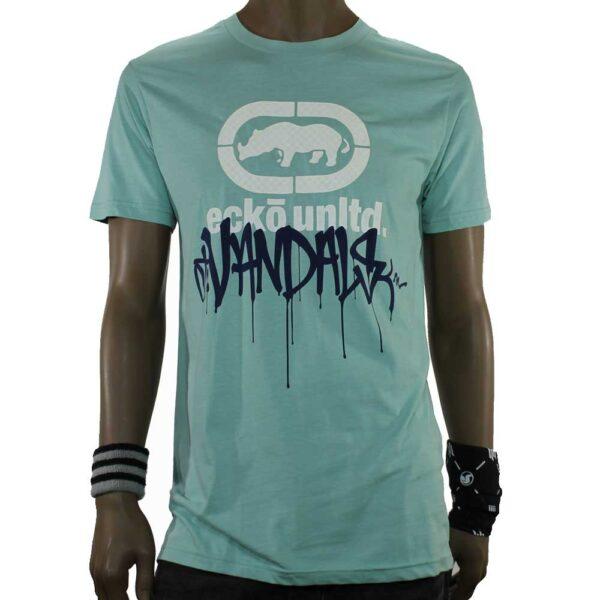 slalom-shop-t-shirt-ecko-vancal-drip-mint-front