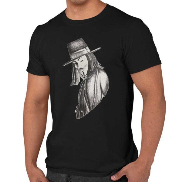 t-shirt anonymous face-man