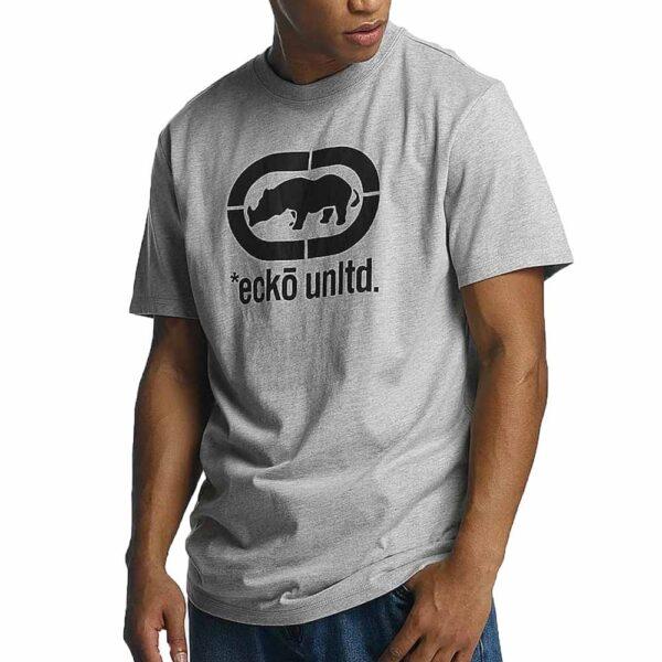 t-shirt-ecko-unltd-john-rhino-logo-grey-melange