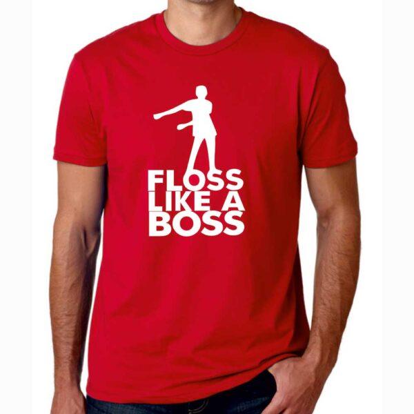 t-shirt-floss-like-a-boss-red