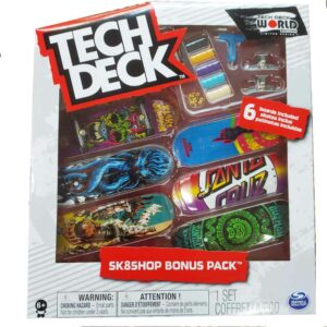 Σετ 6 Μινιατούρες Τροχοσανίδες Tech Deck Sk8Shop Bonus Pack SantaCruz