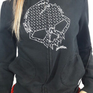 Emily The Strange Woman Zip Hoody Skulls E-3080512