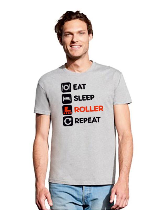 TSHIRT EAT-DRINK-ROLLER-REPEAT