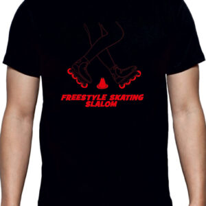 Tshirt FREESTYLE SKATING black(red)