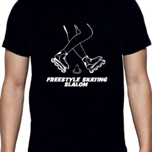 T-SHIRT FREESTYLE SKATING BLACK-WHITE