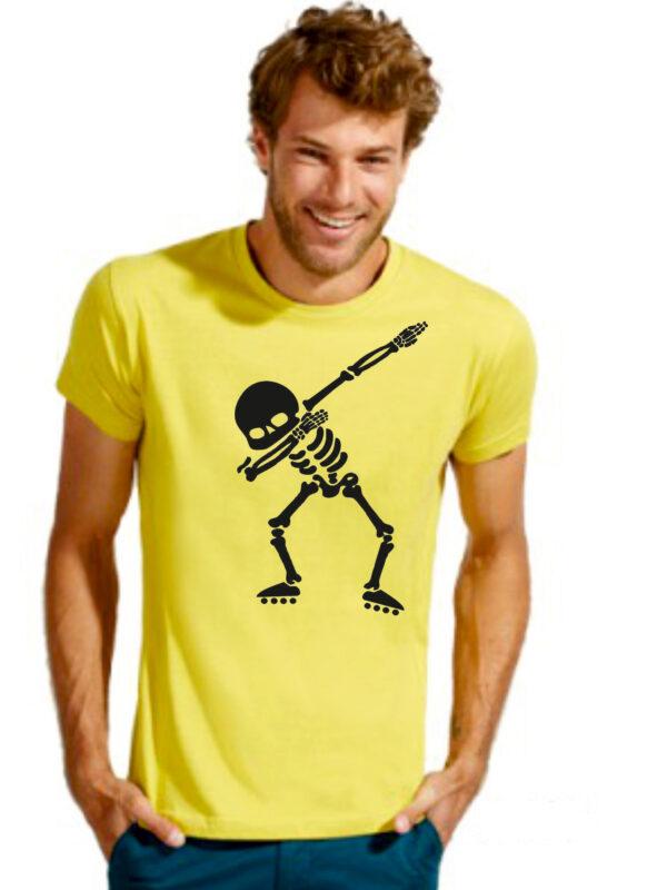 Tshirt ROLLER DAB yellow