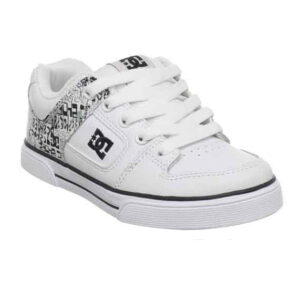DC SHOES YOUTH'S PURE WHITE/BLACK/ARMOR(HBA)