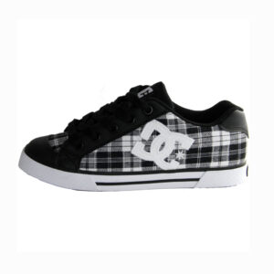 DC W'S SHOES CHELSEA BLACK/PLAID/WHITE