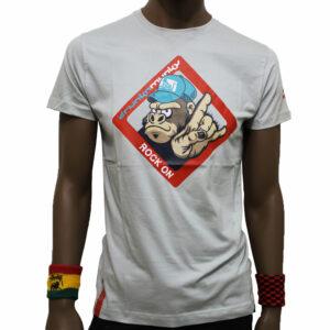 T-Shirt Drunknmunky 7142D Silver