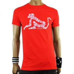 TSHIRT DRUNKNMUNKY D7036 red