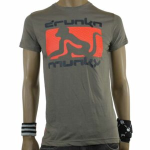 TSHIRT DRUNKNMUNKY D7111 dark grey