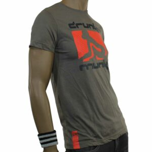 T-SHIRT DRUNKNMUNKY D7111 DARK GREY
