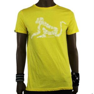 T-SHIRT DRUNKNMUNKY D7035 YELLOW