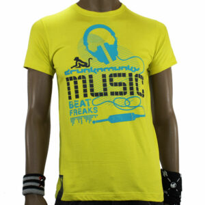 TSHIRT DRUNKNMUNKY 7123D YELLOW