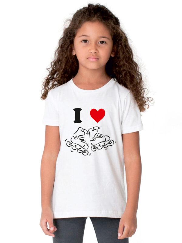 kids I LOVE SKATING white(black)