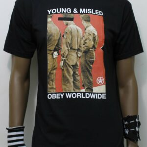 TSHIRT OBEY YOUNG & MISLED black