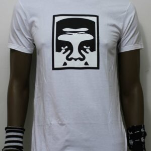 TSHIRT OBEY HALF FACE ICON white