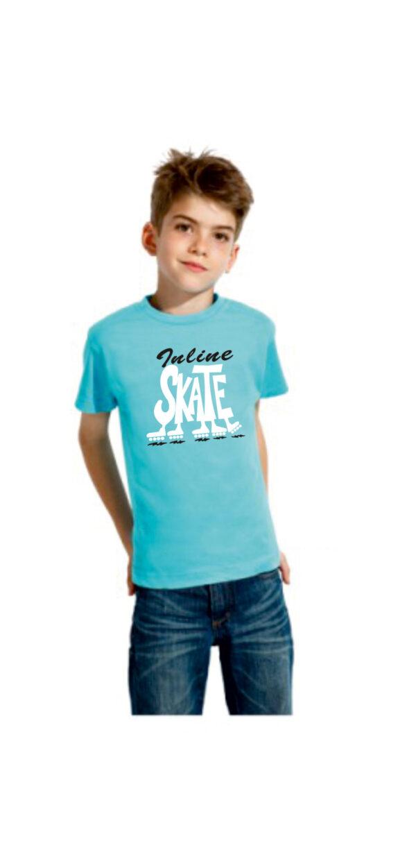 Tshirt INLINE SKATE lt.blue( blk/wht)