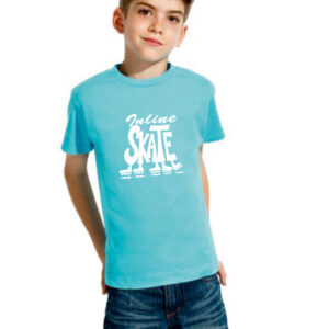 Tshirt INLINE SKATE lt.blue (white)