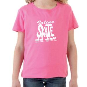 Tshirt INLINE SKATE pink (white)