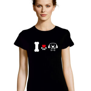 Tshirt I LOVE DOGS black
