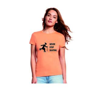 Tshirt NEVER STOP SKATING apricot