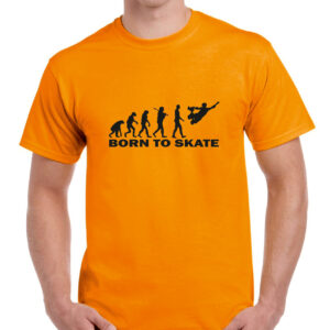 Tshirt BORN TO SKATE orange(black)
