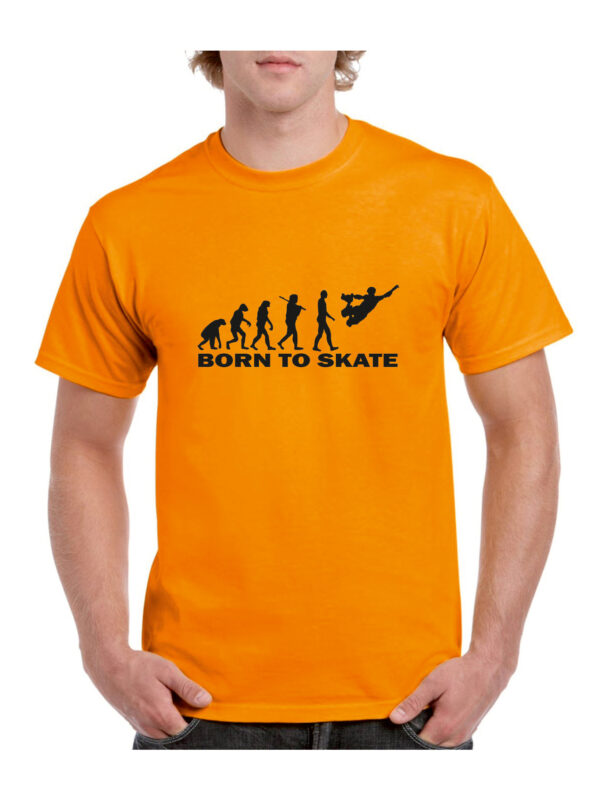 Tshirt BORN TO SKATE orange(black)
