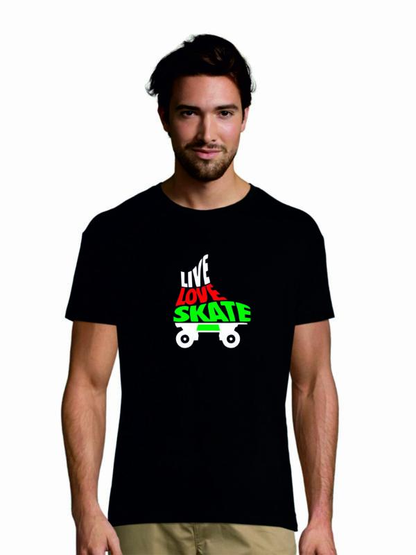 Tshirt LIVE-LOVE-SKATE black
