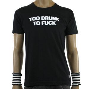 T-Shirt Space Monkeys Drunk Black