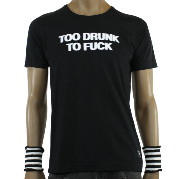 TSHIRT SPACE MONKEYS DRUNK black