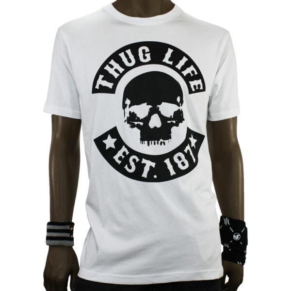 T-SHIRT THUG LIFE TLTS161 white