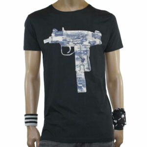 T-Shirt Two Angle Yogun Black