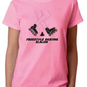 Tshirt FREESTYLE SKATING pink(black)