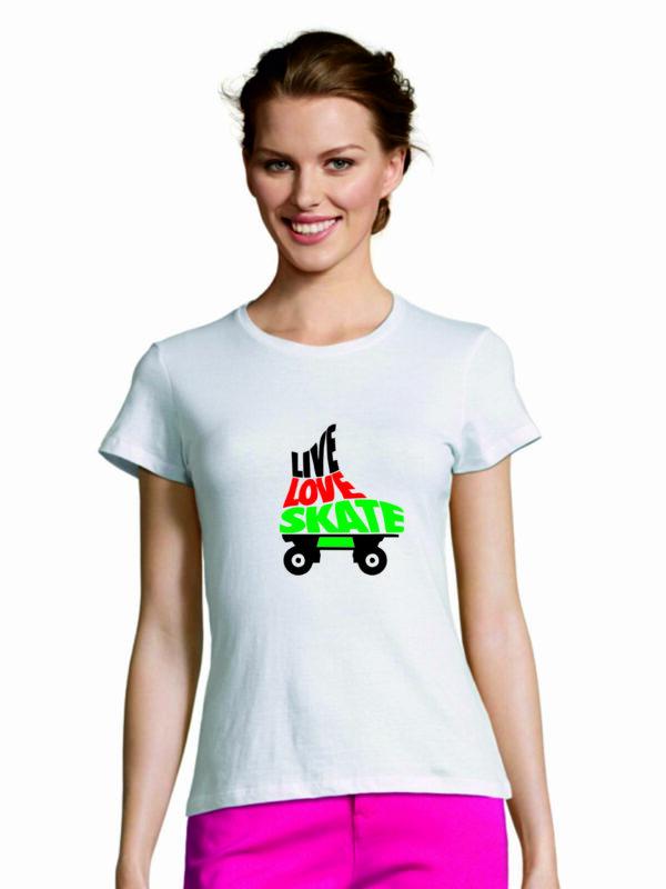 Tshirt LIVE-LOVE-SKATE white