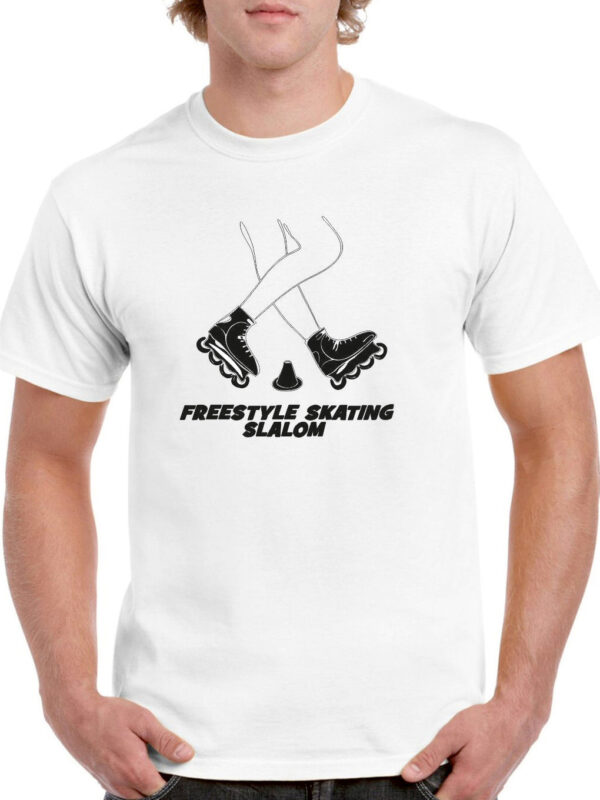 Tshirt FREESTYLE SKATING white(black)
