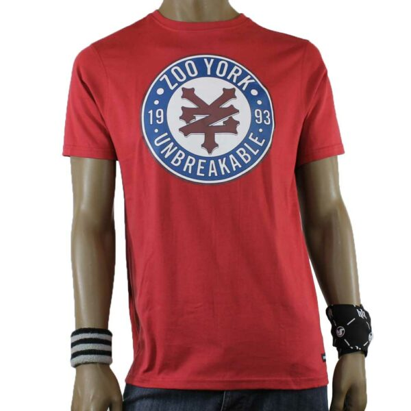 t-shirt zoo york stamp red