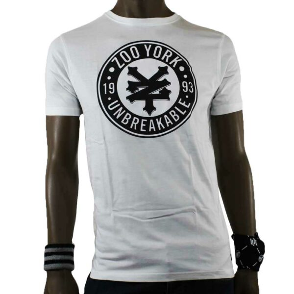 t-shirt zoo york stamp white